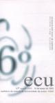 Programa del Encuentro de Coros Universitarios. Universidad de Aveiro. 16 de marzo de 2003