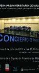 Concierto de in de Curso del Orfeón Universitariode Málaga. 22 de junio de 2011