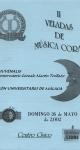 II Veladas de Música Coral. 26 de mayo de 2002