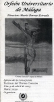 Concierto de Polifonía Histórca Religiosa. 9 de abril de 2003