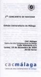 Concierto de Navidad en el CAC Málaga. 19 de diciembre de 2005