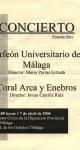 Concierto en el Centro Cívico de la Diputación de Málaga. 7 de abril de 2006