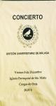 El Orfeón Universitario en Cangas de Onís. 6 de diciembre de 2006