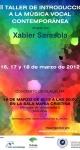 VIII Taller de Introducción a la Música Vocal Contemporánea. Marzo de 2012