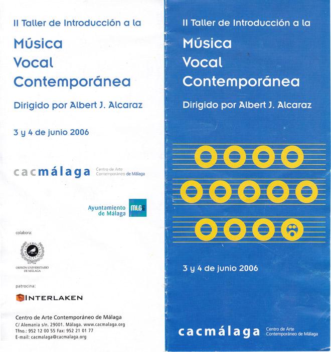 II TALLER: 2006